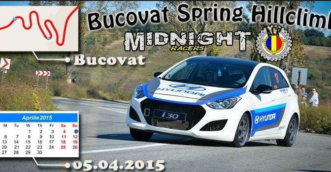 Bucovat Spring HillClimb – raliu de viteza pe traseu de coasta va avea loc pe 5 aprilie 2015