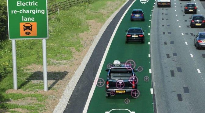 Marea Britanie lucreaza la implementarea unor benzi de circulatie care incarca bateria masinilor electrice