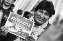 Bolivia president Evo Morales during the Dakar 2016 Argentina Bolivia, Etape 5 - Stage 5, Jujuy - Uyuni on January 7, 2016 in Bolivia - Photo Andre Lavadinho / A Vialatte / At World