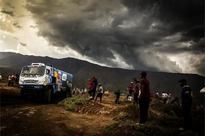 502 NIKOLAEV EDUARD YAKOVLEV EVGENY RYBAKOV VLADIMIR (rus) KAMAZ action during the Dakar 2016 Argentina,  Bolivia, Etape 8 / Stage 8, Salta - Belen on  January 11, 2016 - Photo Andre Lavadinho / Artwolrd / ASO