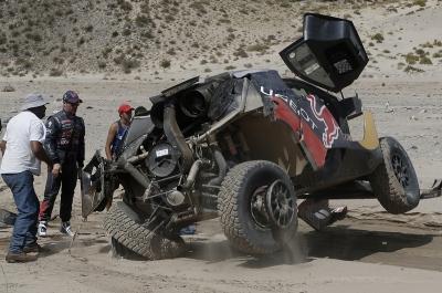 314 LOEB Sebastien ELENA Daniel (fra) PEUGEOT accident during the Dakar 2016 Argentina, Bolivia, Etape 8 / Stage 8, Salta - Belen, from January 11, 2016 - Photo @ World / A. Lavadinho / DPPI