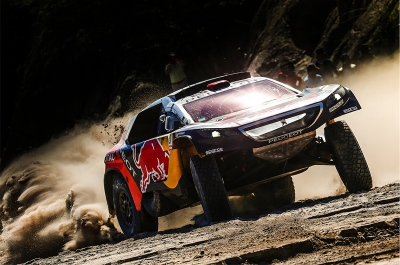 321 DESPRES Cyril (fra) CASTERA David (fra) PEUGEOT action during the Dakar 2016 Argentina - Bolivia, Etape 9 / Stage 9, Belen - Belen on January 12, 2016 in Belen, Argentina - Photo Andre Lavadinho / A Vialatte / @World / ASO