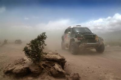 300 AL-ATTIYAH Nasser (qat) BAUMEL Matthieu (fra) MINI action during the Dakar 2016 Argentina - Bolivia, Etape 10 / Stage 10, Belen - La Rioja on January 13, 2016 in La Rioja, Argentina - Photo Andre Lavadinho / @World / ASO