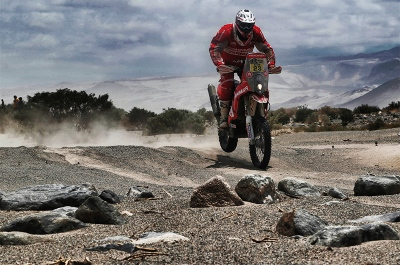 23 FARRES GUELL Gerard (spa) KTM action during the Dakar 2016 Argentina - Bolivia, Etape 10 / Stage 10, Belen - La Rioja on January 13, 2016 in La Rioja, Argentina - Photo Andre Lavadinho / @World / ASO