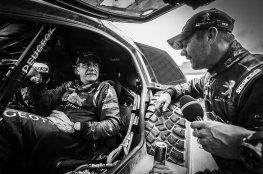 SAINZ Carlos (spa) with LOEB Sebastien (fra) ambiance portrait during the Dakar 2016 Argentina Bolivia, Etape 5 - Stage 5, Jujuy - Uyuni on January 7, 2016 in Bolivia - Photo Andre Lavadinho / A Vialatte / At World