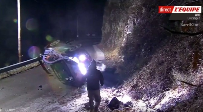 Accident grav la Raliul Monte Carlo